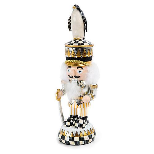 """15"""" Penguin King Nutcracker, Gold/Multi"""