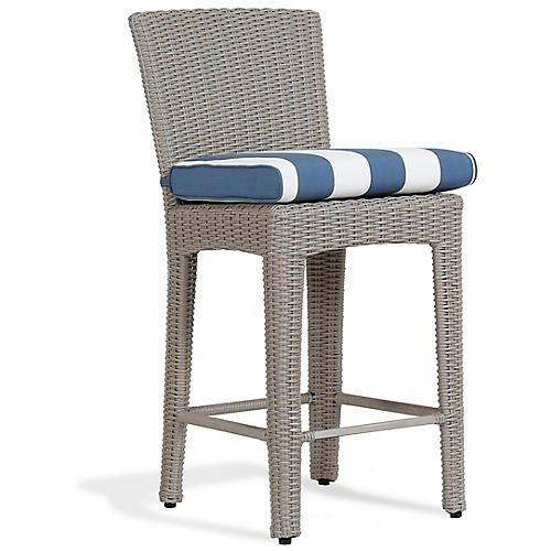 Manhattan Barstool, Blue/White