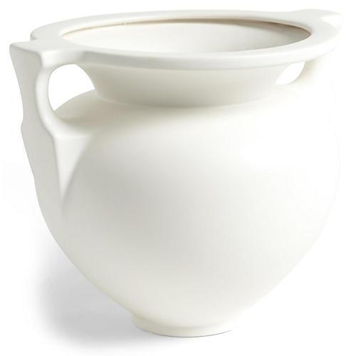 "11"" Grecian Amphora Vase, White"