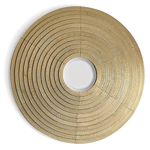 Etoile Small Convex Wall Mirror, Brass