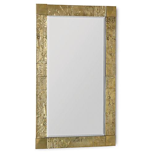 Pimlico Oversize Mirror, Brass