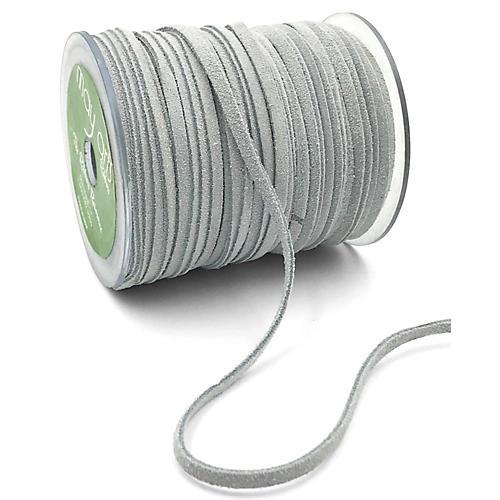 "1/8"" Suede Cord Ribbon, White"