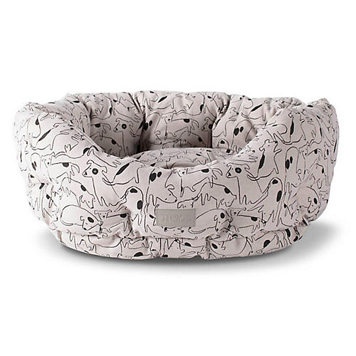 Nosey Cuddler Pet Bed, Beige/Multi
