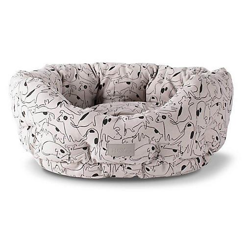 Nosey Cuddler Pet Bed, Beige/Multi