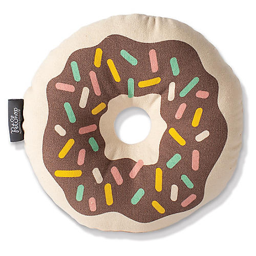 Donut Dog Toy, Brown/Multi