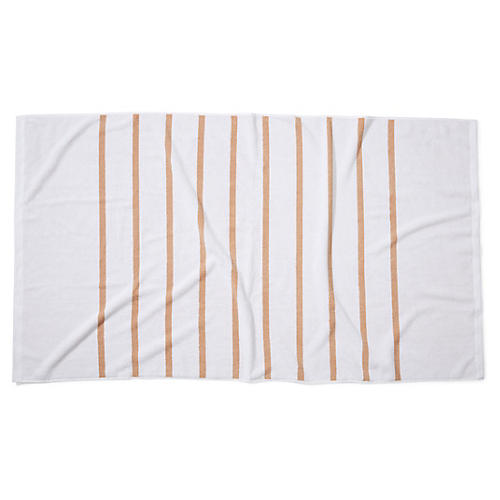 Breton Stripe Beach Towel, Sand