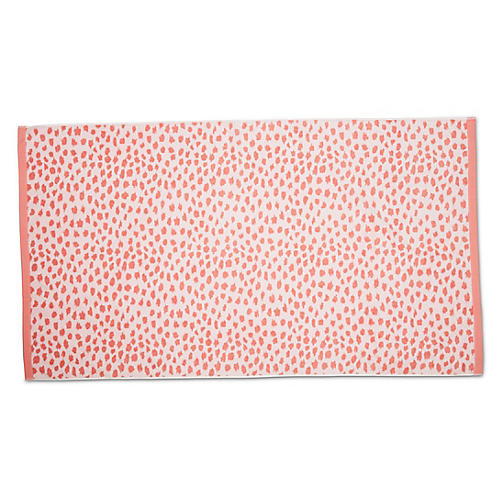 Leopard Beach Towel, Blush