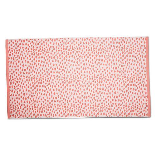 Leopard Beach Towel, Blush
