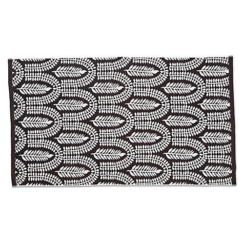 Delilah Beach Towel, Black