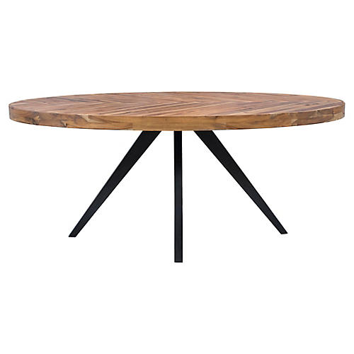 Alexa Oval Dining Table, Cappuccino