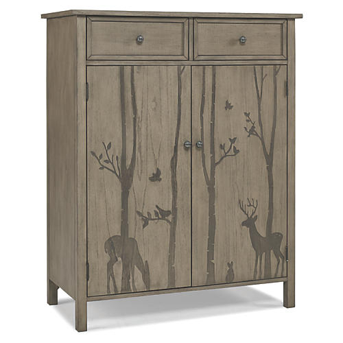 Forest Animal Chifforobe, Natural Gray