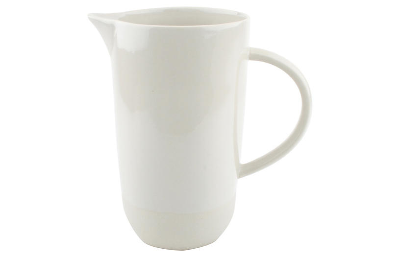 Shell Bisque Pitcher, White