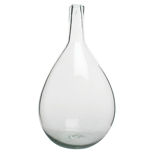 "15"" Porcio Large Vase, Clear"