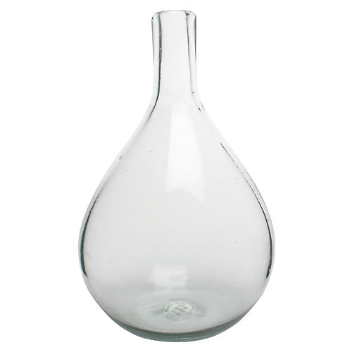 "12"" Porcio Small Vase, Clear"