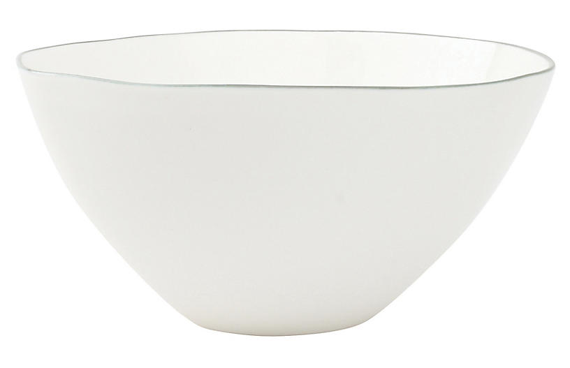 S/4 Abbesses Bowls, White/Gray