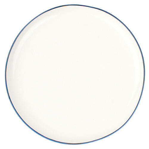 S/4 Abbesses Salad Plates, White/Blue