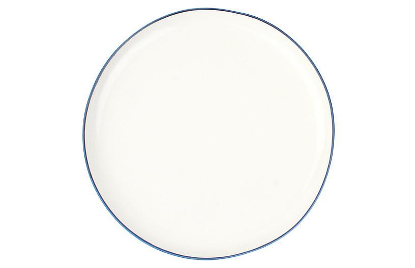 S/4 Abbesses Salad Plates, White/Blue