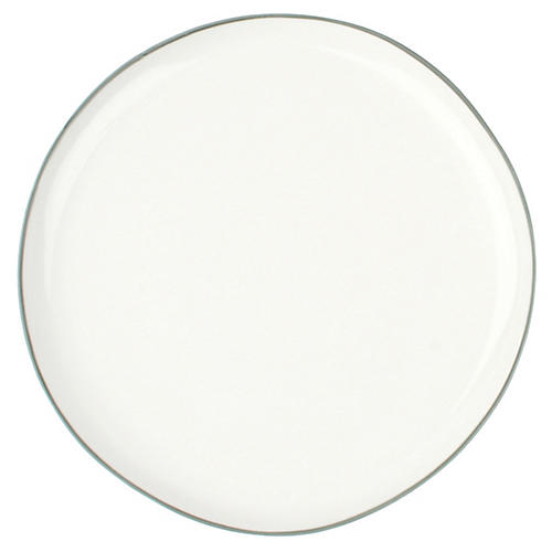 S/4 Abbesses Salad Plates, White/Gray
