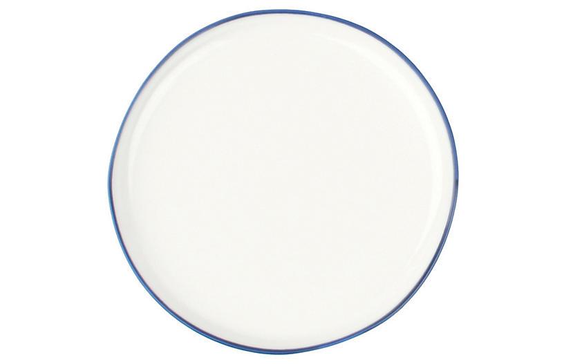 S/4 Abbesses Bread Plates, White/Blue