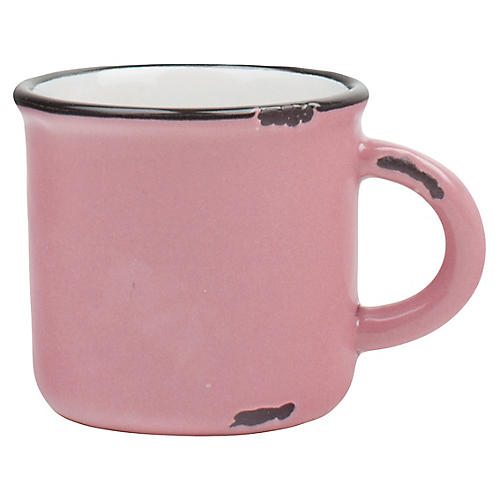 S/4 Tinware Espresso Cups, Pink