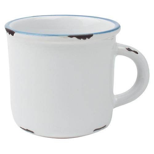 S/4 Tinware Espresso Cups, White