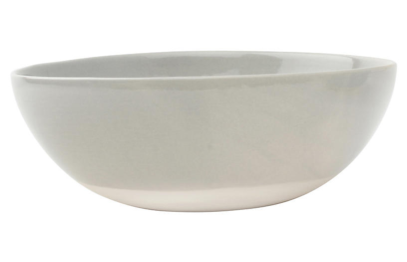 S/4 Shell Bisque Cereal Bowls, Gray