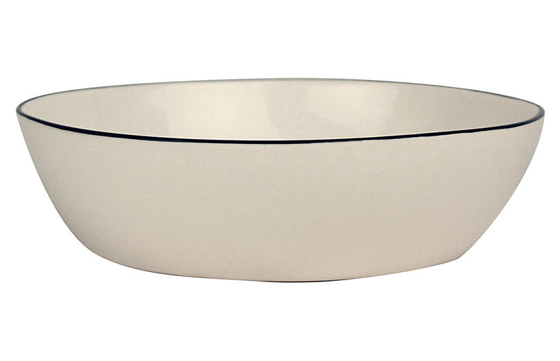 S/4 Abbesses Pasta Bowls, White/Black
