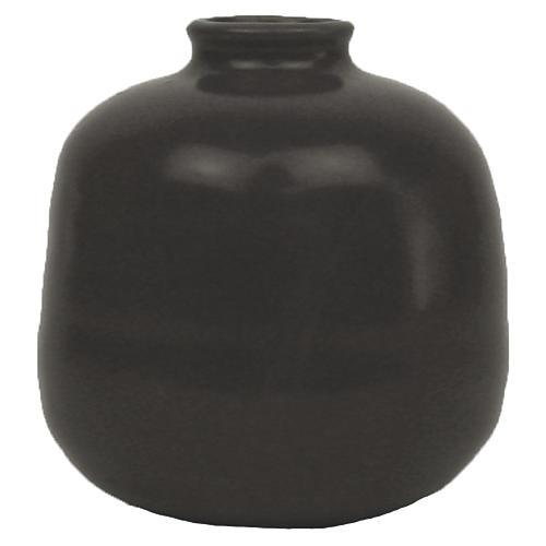 """4"""" Morandi Large Bud Vase, Black"""