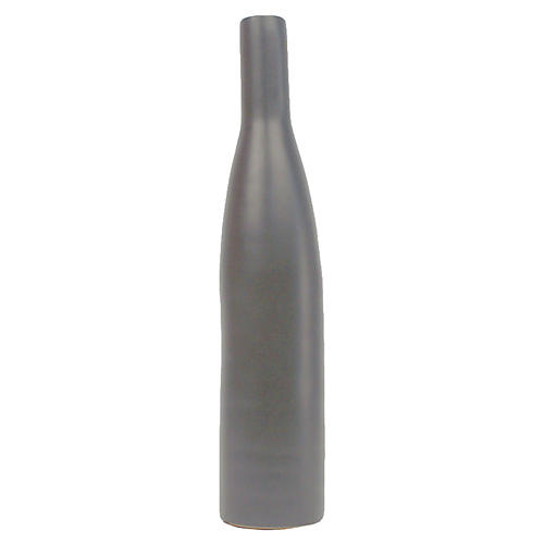 "10"" Morandi Large Bottle Vase, Gray"