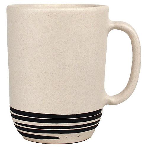 S/4 Salamanca Mugs, White/Black