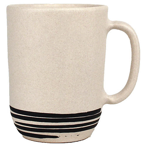 S/4 Salamanca Mugs, White/Black