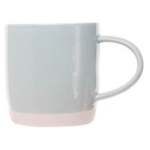 S/4 Shell Bisque Mugs, Mist