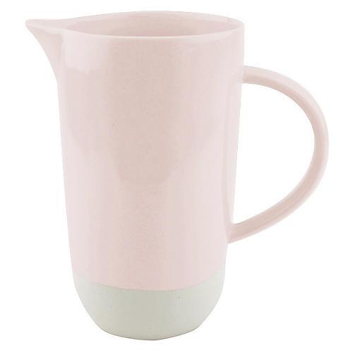 Shell Bisque Pitcher, Soft Pink
