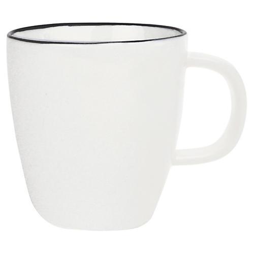S/4 Abbesses Espresso Cups, White/Black