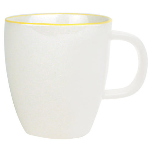S/4 Abbesses Espresso Cups, White/Yellow