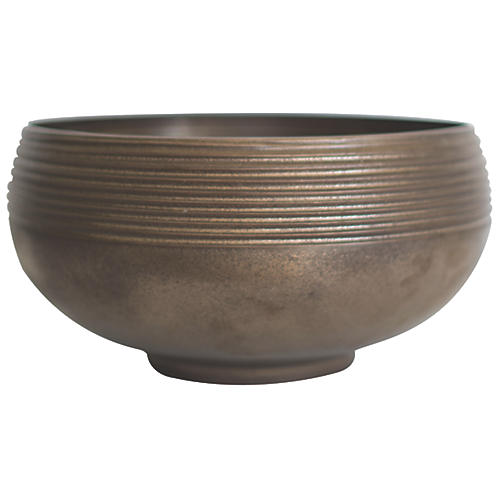 "18"" Anabra Bowl, Bronze"
