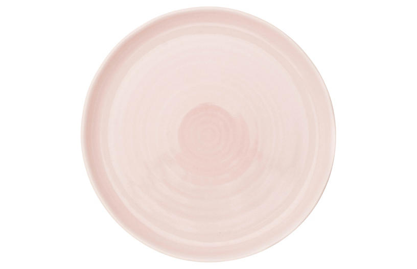 S/4 Pinch Dinner Plates, Pink