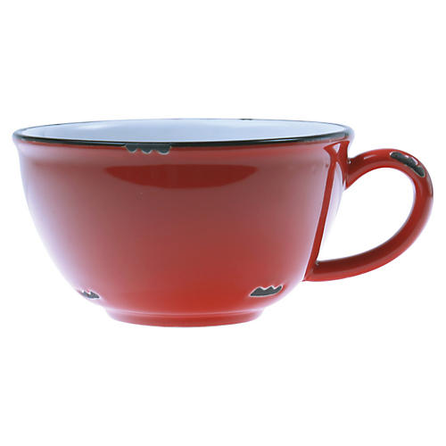 Tinware Latte Cup, Red