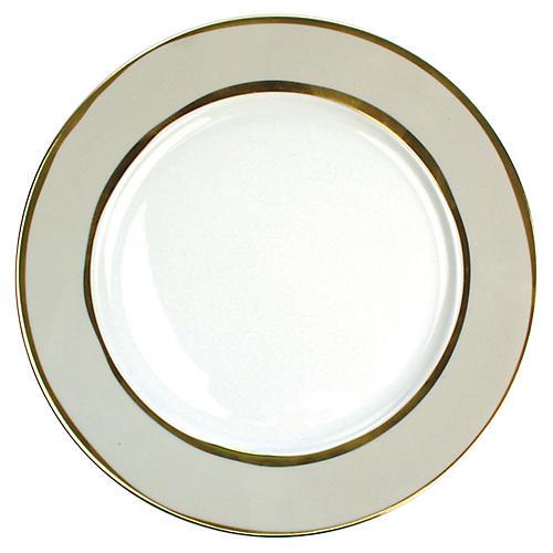 S/4 La Vienne Dinner Plates, Gray