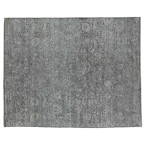 Meena Hand-Knotted Rug, Silver