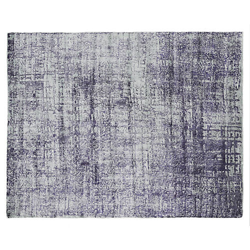Scoggin Hand-Knotted Rug, Blue/Multi