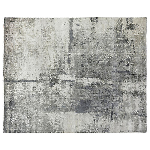 Ladin Hand-Knotted Rug, Gray