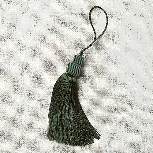 Pom-Pom Key Tassel, Forest Green