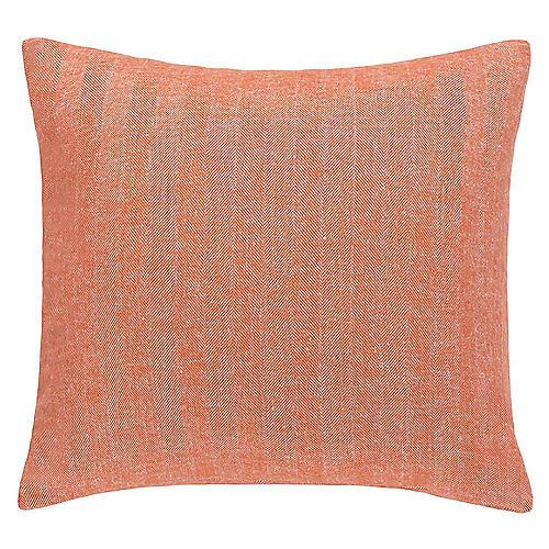 Herringbone 20x20 Pillow, Mandarin