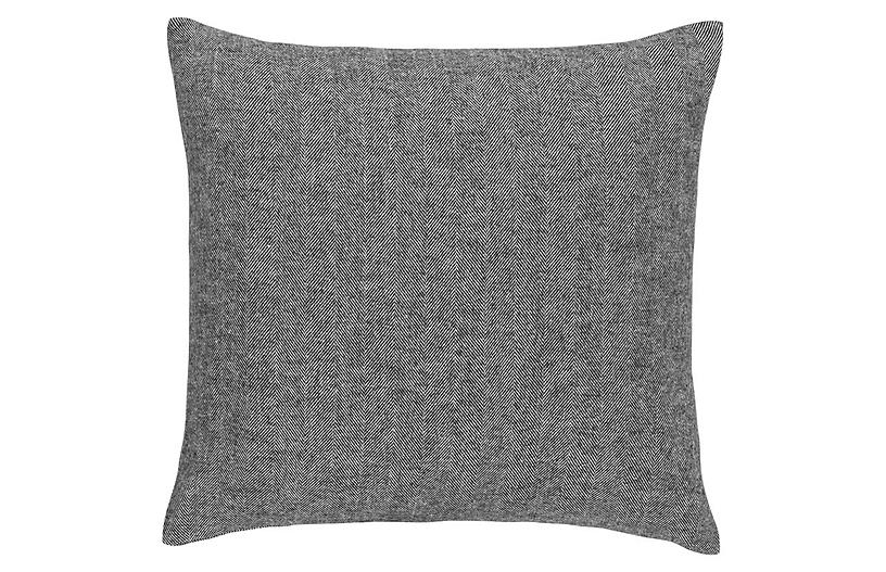 Herringbone 20x20 Pillow, Charcoal