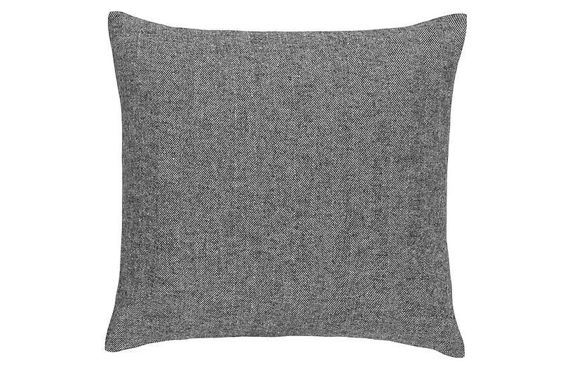 Herringbone 20x20 Pillow, Charcoal