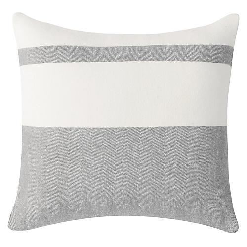 Sydney Stripe Pillow, Light Gray
