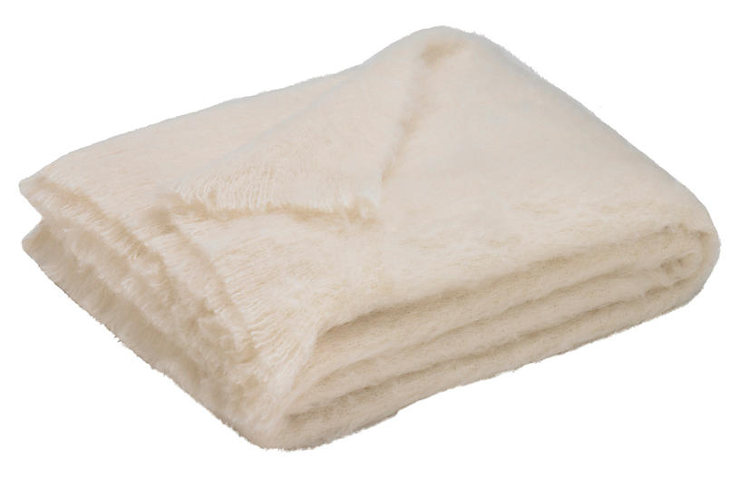 Alpaca Alpaca Throw, Cream