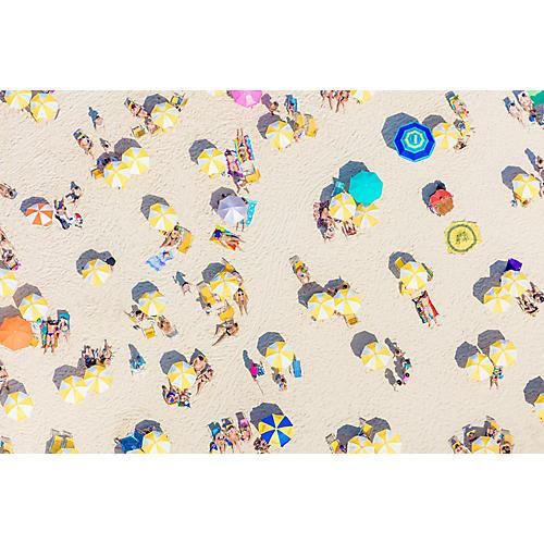 Gray Malin, Rio Yellow Umbrellas Horizontal
