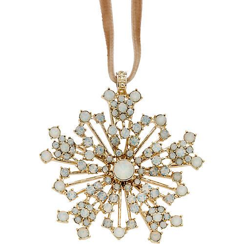 Sparkle Snowflake Ornament, Opal